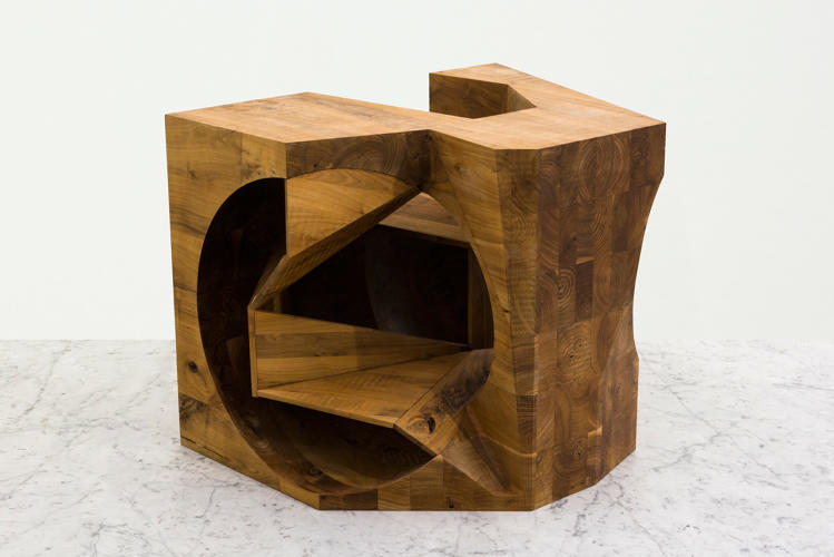 <p>This piece is carved from walnut.</p>