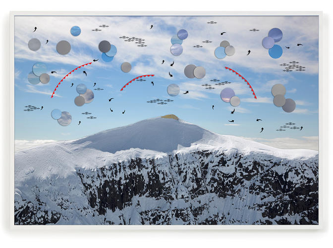 <p><em>Rescue Blanket for Kebnekaise</em><br /> UV-printed photo on three-layer glass and aluminum<br /> 160 x 110 x 6 cm<br /> Bigert &amp; Bergström 2016</p>