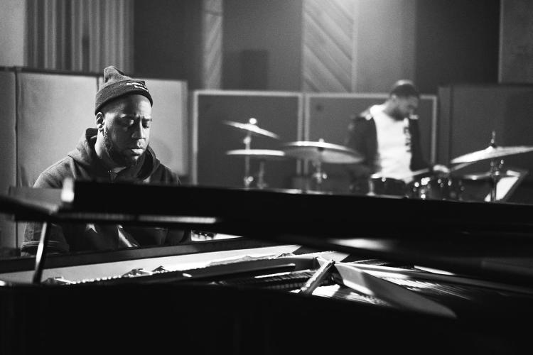 <p>The Robert Glasper Trio at work in the studio.</p>