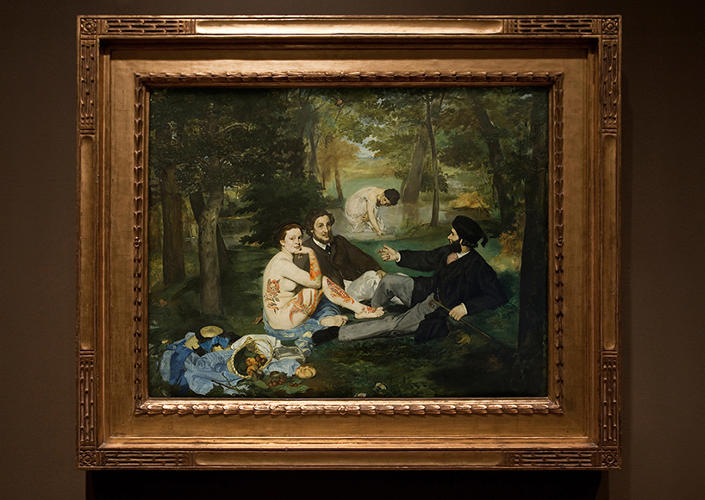 <p>Edouard Manet's 'Luncheon on the Grass'</p>