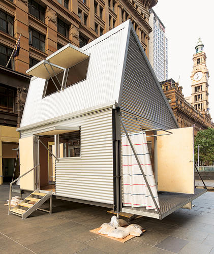 <p>Grid disaster-relief structure by Carter Williamson Architects; Sydney, Australia.</p>