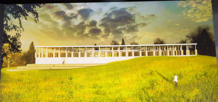 <p>This is a preview of plans for a new national memorial to the victims of lynching that will hopefully break ground this year in Montgomery, Alabama.</p>