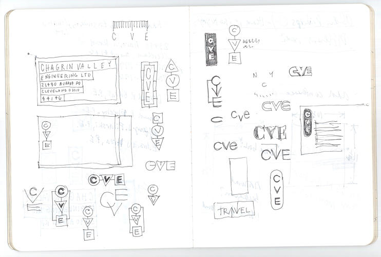 <p>The notebook of Pentagram partner Michael Bierut</p>