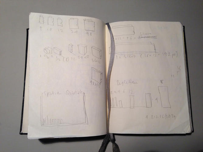 <p>The notebook of type designer Erik Spiekermann</p>