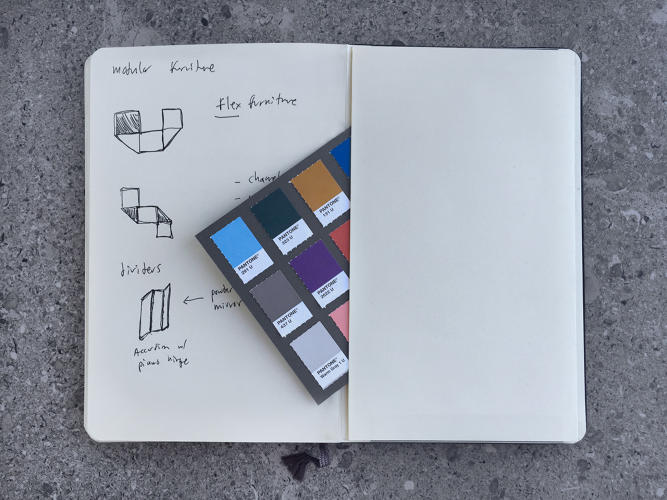 <p>The notebook of Nathan Warkentin, creative director, Mast Brothers</p>
