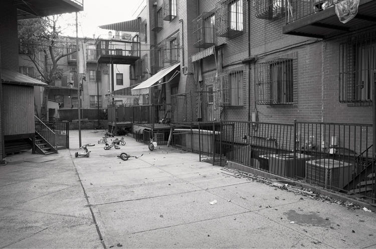 <p><em>Bicycles in Courtyard</em> on Union Avenue, Brooklyn, NY</p>