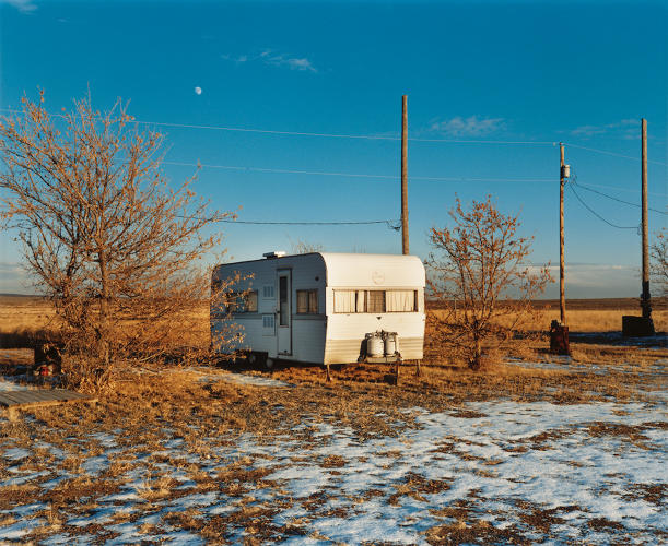 <p>Rising moon, Atomic City, Idaho, 1986. © 2016 David T. Hanson</p>