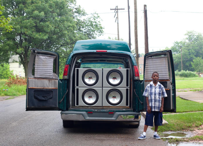 <p>Ray Shawn and his uncle's van, 2011.</p>