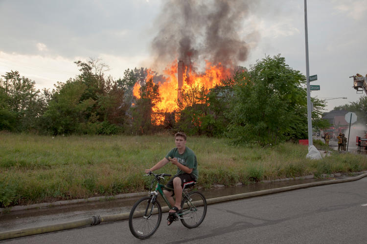 <p>House Fire, 2013.</p>