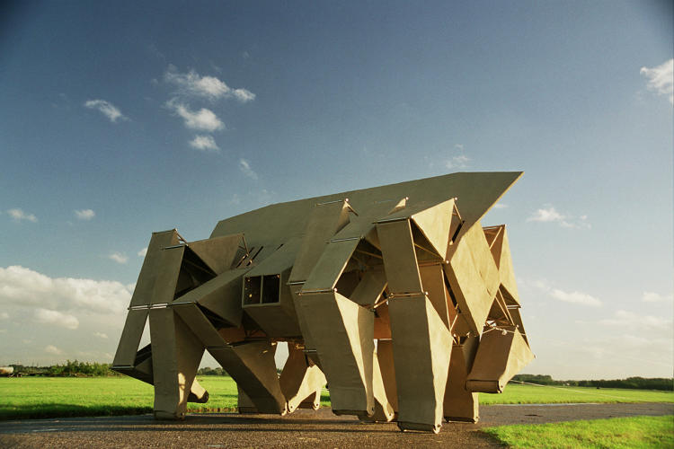 <p>The <em>Animaris Rhinoceros</em> is an early iteration of Strandbeest</p>