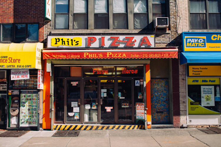 <p>Phils Pizza in the West Village</p>