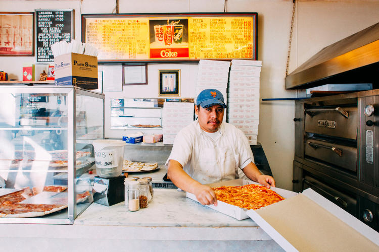 <p>Joaquin of Carmines Original Pizza in Greenpoint, Brooklyn</p>