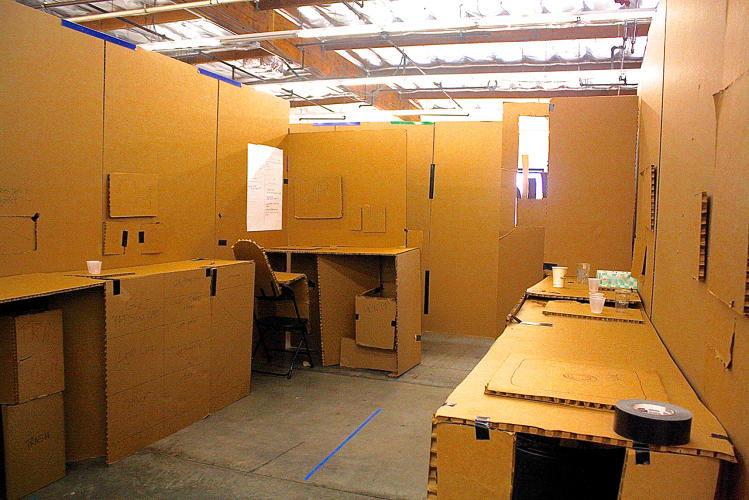 <p>Independent of Ideo, the Pacific Southwest affiliate used human-centered design exercises, such as cardboard mock-ups, to build its new facilities.</p>