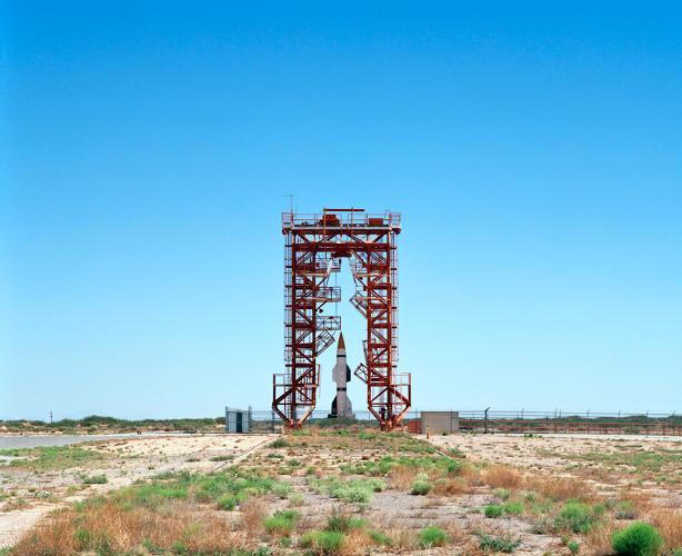 <p><em>Launch Pad and Gantry with Hermes A-1 Rocket, V2 Launch Complex 33</em>, White Sands Missile Range, New Mexico, 2006.</p>