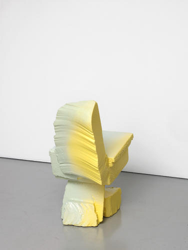 <p>Max Lamb (British, b. 1980); Chair (back and front), from Scrap Poly Pastel series, 2014; Polystyrene, polyurethane rubber; 68 x 36 x 48 cm (26¾ x 14 3⁄16 x<br /> 18⅞ in.);</p>