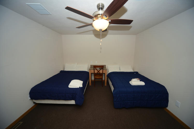 <p>Double room at Capital Lodge, Near Tioga, ND. This camp closed down in 2015.</p>