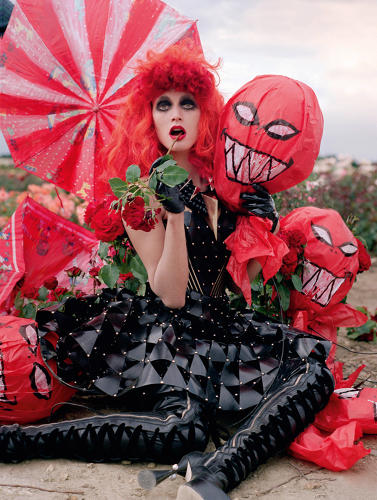 <p>&quot;Tricks and Treats&quot; fashion editorial photographed by Tim Walker, appearing in the October 2009 issue of <em>Harper's Bazaar</em></p>