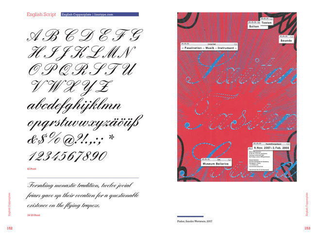 <p>Copperplate typefaces were meant to give off a sense of distinguished elegance.</p>