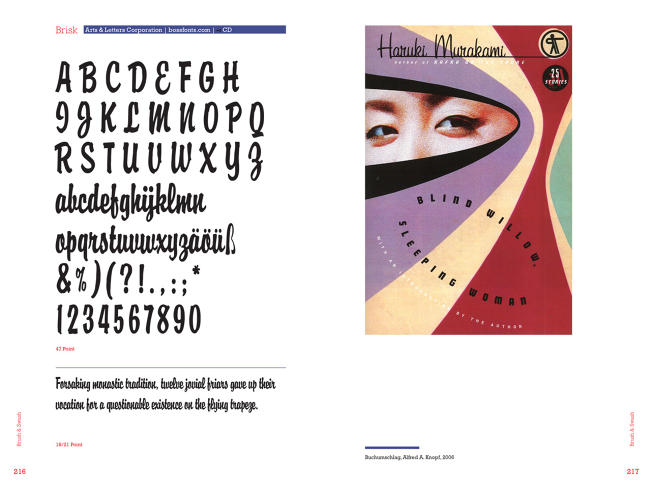 <p>Font and cover for <em>Blind Willow, Sleeping Woman</em> by Haruki Murakami.</p>