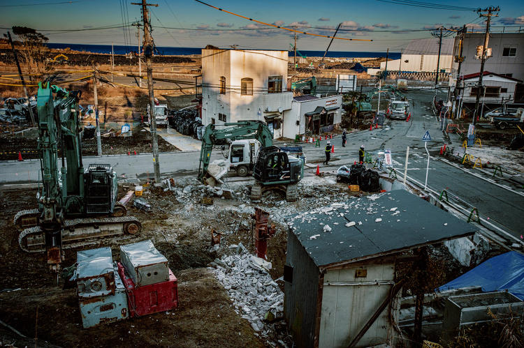 <p>It is now in a growing pile of bags stacked on former farms in Fukushima.</p>