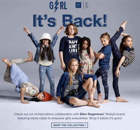 <p>More from the GapKids x ED campaign with Le Petit Cirque.</p>
