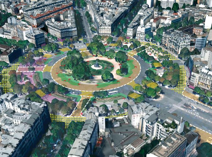 <p>The shift started with the Place de la République—until 2013, it was also a busy road, but now it's a pedestrian plaza planted with trees.</p>