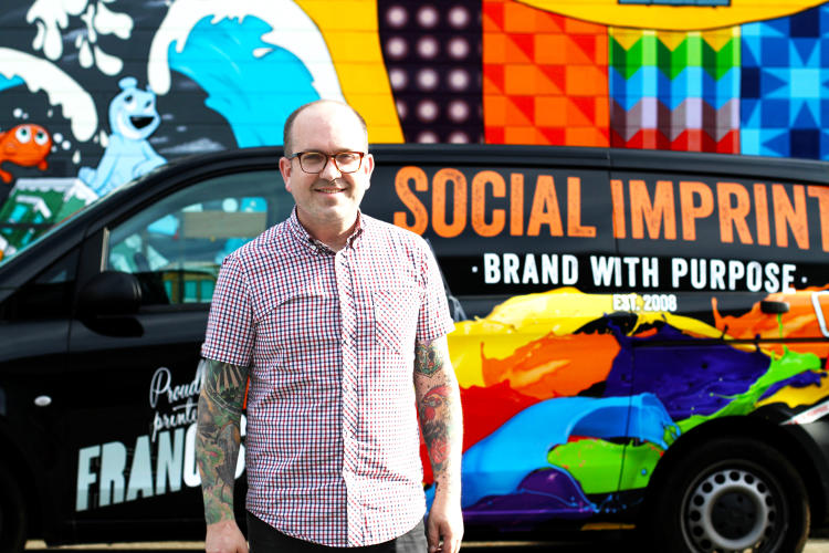 <p>Kevin McCracken, CEO and Co-founder of Social Imprints.</p> <p><em>Photo by Seema Hamid 2016</em></p>