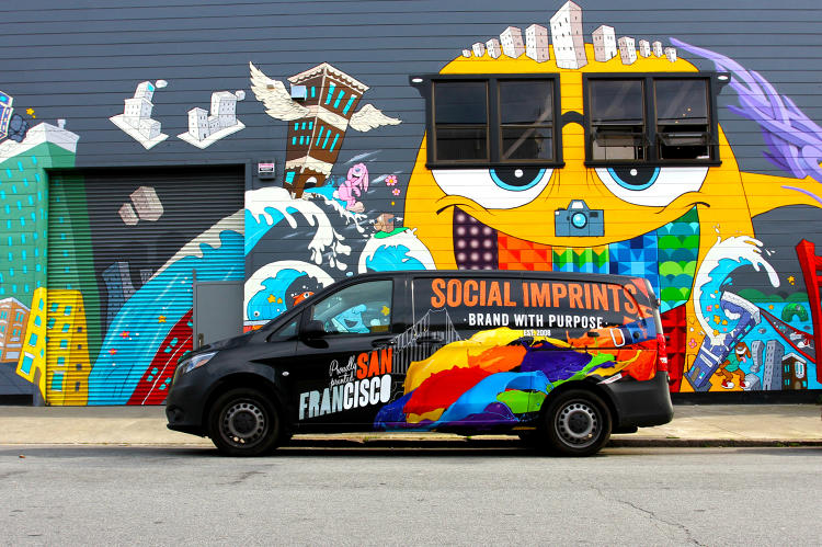 <p>The van's transformation included a complete van wrap with a custom design created by Art Director, Tony Brown.</p> <p><em> Photo by Seema Hamid 2016 </em></p>