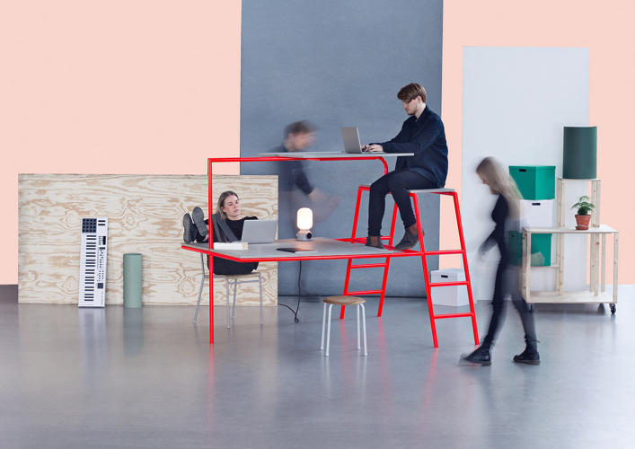 pthe bunk desk by andr gunnarsson stacks workstations to offer people a bit brilliant small office ideas