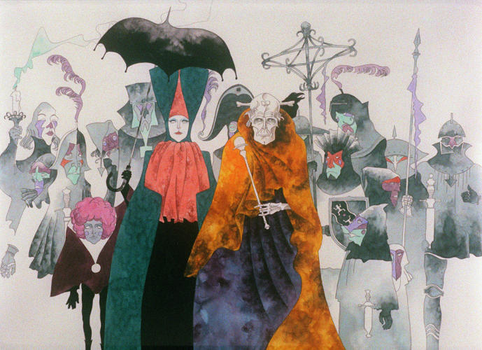 <p>Still from <em>Belladonna of Sadness</em>, by director Eiichi Yamamoto and artist Kuni Fukai</p>