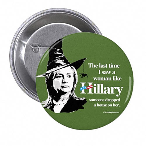 <p>While sexism in buttons is not new, there's been a distinct shift in tone in the recent spate of anti-Hillary buttons.</p>