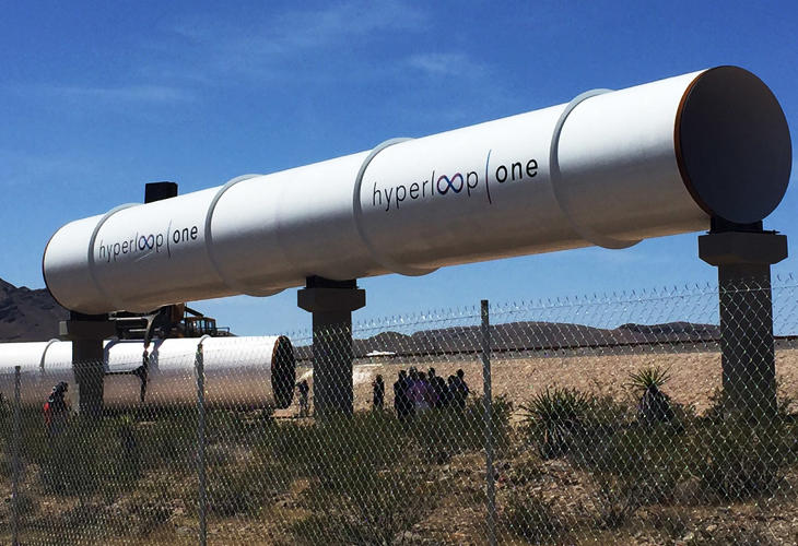 <p>Hyperloop One will begin conducting its dev loop tests later this year, elevating the track into tubes like this one.</p>