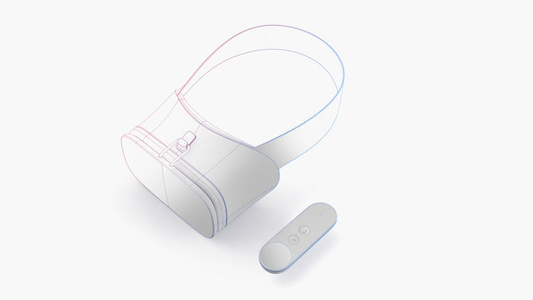 <p>This is Daydream, Google's open source headset and controller for mobile VR.</p>