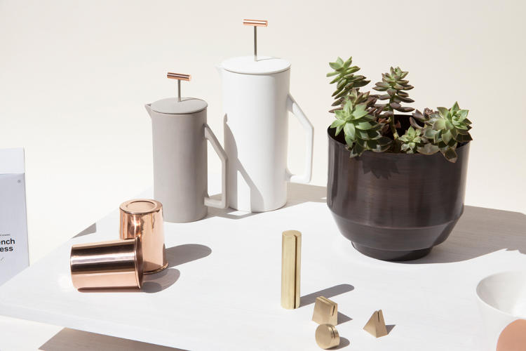 <p>Ceramic French presses and copper cops are among Yield's most popular products.</p>