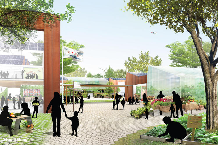 <p>Designed by architects from the Chicago-based Studio Gang, the school is aiming for certification from the Living Buildings Challenge.</p>