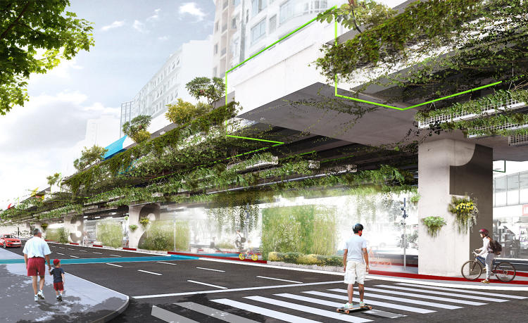 <p>The city has a deadline to decide the ultimate fate of the road. In the meantime, designers plan to transform the space below.</p>