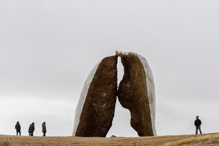 <p>Beartooth Portal (2015), from Structures of Landscape series by Ensamble Studio for Tippet Rise Art Center in Montana.</p>