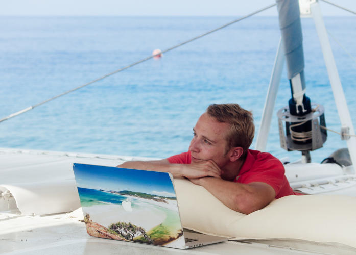 <p>Instead, for a week or a few weeks, you'll spend virtually all your time with your fellow coworkers on the boat.</p>