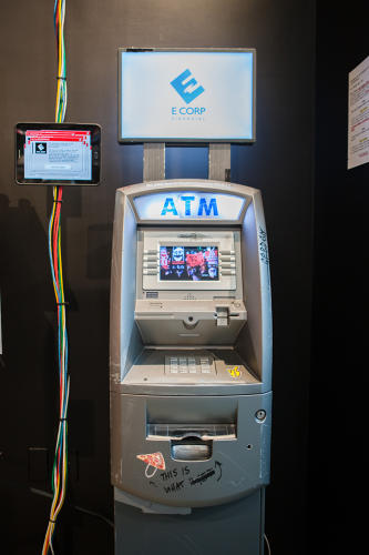<p>The hackable ATM, which rewards guests with real money if they can crack it</p>