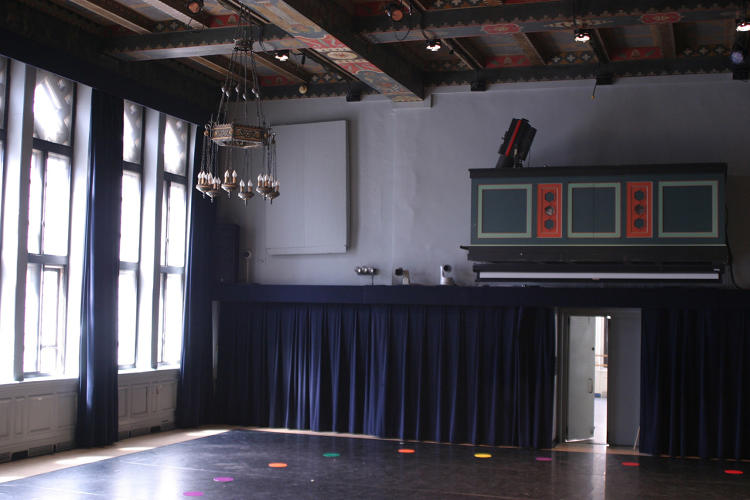 <p>The 92Y created a 360-degree virtual reality tour of how their complex could be redone. Here is Buttenwieser Hall, one part of their space before.</p>