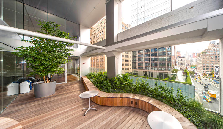 <p>Advertising agency Wieden + Kennedy wanted its New York office to be timeless rather than &quot;fun,&quot; so they used warm wood and filled it with greenery.</p>