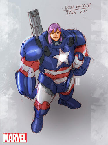 <p>The new Iron Patriot, Dr. Toni Ho</p>