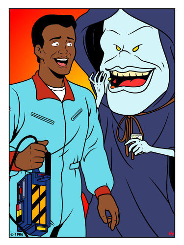 <p><em>The Real Ghostbusters'</em> Winston Zeddemore and The Sandman</p>