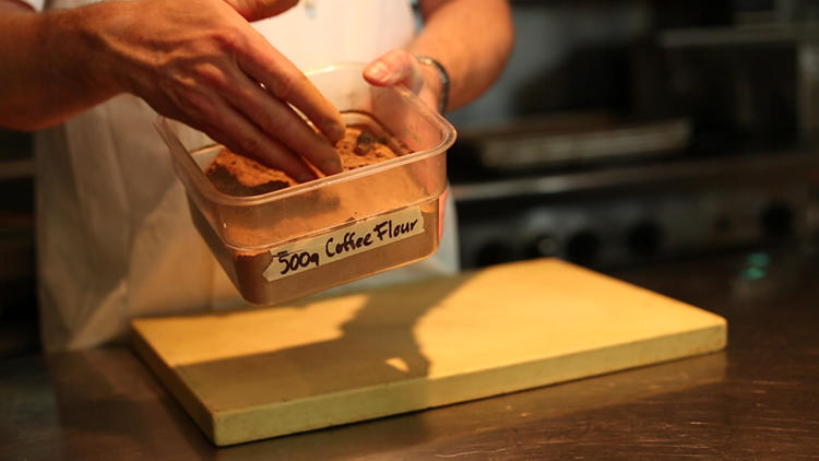 <p>A chocolate bar from Seattle Chocolates uses the coffee flour to add new flavors while also bringing out more flavor in the chocolate itself.</p>