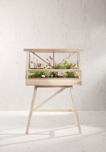 <p>Greenhouse by Worapong Manupipatpong and Ada Chirakranont for Design House Stockholm; $695 (greenhouse), $295 (legs) at MoMA Store</p>