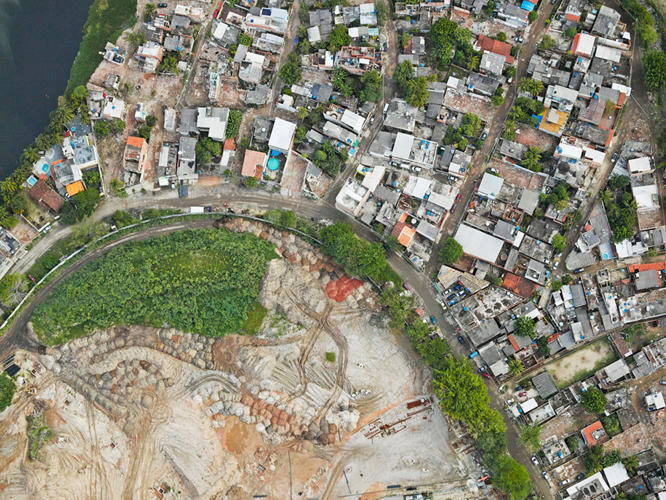<p>A favela in Vila Autódromo starts to be demolished to make way for the Olympic Park site.</p>