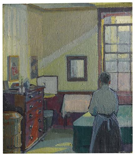 <p>Harold Gilman, Interior (Mrs Mounter)</p>