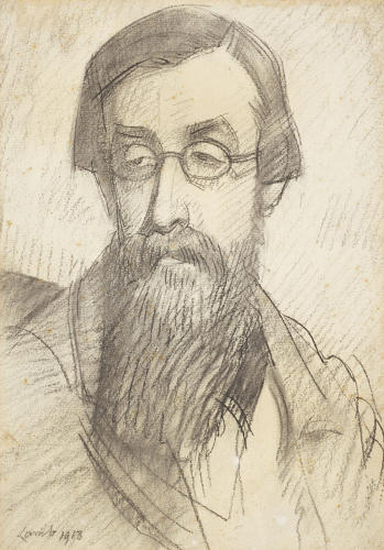 <p>Lamb, Study for Portrait of Lytton Strachey (1913)</p>