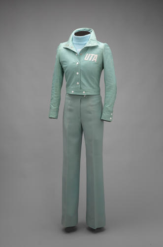 <p>Union de Transport Aériens flight attendant uniform by André Courrèges, 1973</p>