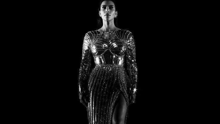 <p>Kim Kardashian West from the video for &quot;Wolves&quot;</p>